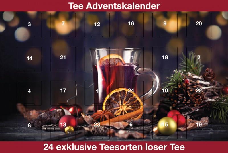 adventskalender mit weihnachtstee 24 mal purer tee genuss. Black Bedroom Furniture Sets. Home Design Ideas